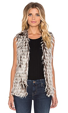 Unreal Fur I'll Take You Faux Fur Vest in Dove White