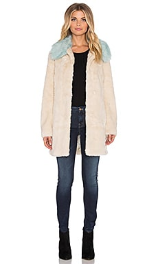 Unreal Fur Candy Blossom Faux Fur Coat in Cream