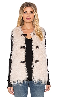 Unreal Fur Pastorale Vest in Cream Curly