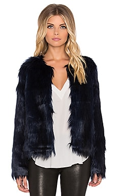 Unreal Fur Unreal Dream Faux Fur Jacket in Midnight Blue
