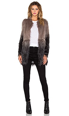 Unreal Fur Wanderlust Coat in Grey Ombre