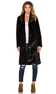 Unreal Fur My Faux Fur Lady Coat in Black Faux Mink