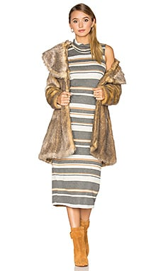 Elixir Faux Fur Coat in Blonde