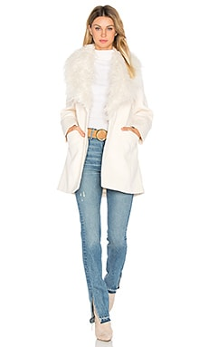 Elixir of Love Faux Fur Coat in Ivory