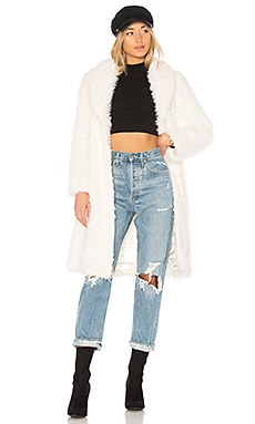De La Cream Coat Unreal Fur $227