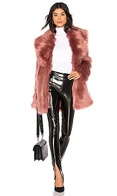 Premium Rose Faux Fur Jacket Unreal Fur $190