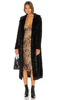 The Black Bird Coat Unreal Fur $292