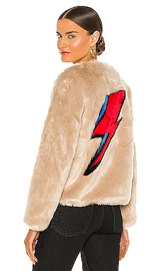 Flash Faux Fur Jacket Unreal Fur $389 NEW