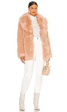 Premium Rose Faux Fur Jacket Unreal Fur $224