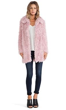Unreal Fur De-Fur Coat in Dusty Pink