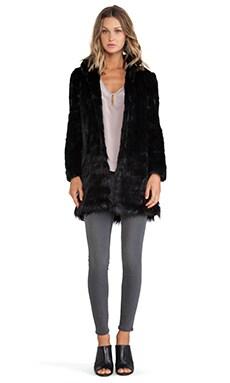 Unreal Fur A-Cappella coat in Black
