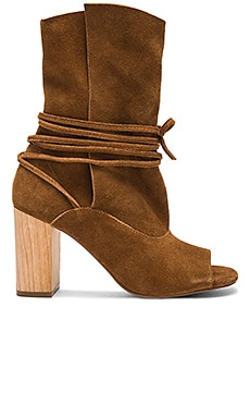 Vista Booties in Tan Suede
