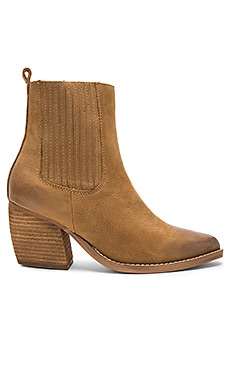 Toronto Booties in Tan Milled Nubuk