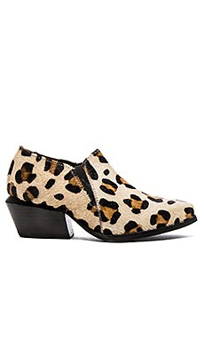 Urge Veda Calf Hair Bootie in Leopard Pony