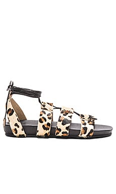 Urge Loulou Calf Hair Sandal in Leopard