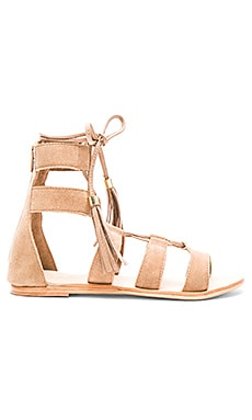 Urge Penny Sandal in Tan Suede