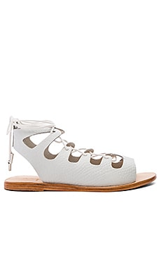 Sparticus Sandal in White Croc