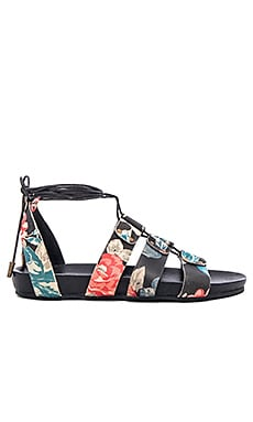 Loulou Sandal in Black Floral