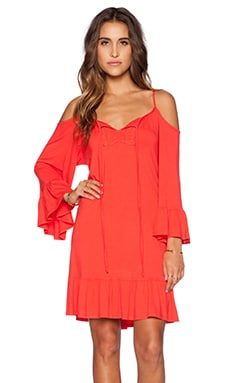 VAVA by Joy Han Halle Bell Sleeve Dress in Dark Orange