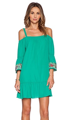 VAVA by Joy Han Rowena Open Shoulder Dress in Teal