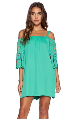 VAVA by Joy Han Irene Open Shoulder Dress in Green