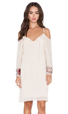 VAVA by Joy Han Viola Open Shoulder Dress in Ivory