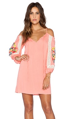 VAVA by Joy Han Lara Open Shoulder Dress in Coral