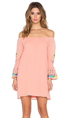 VAVA by Joy Han Dottie Off the Shoulder Dress in Peach
