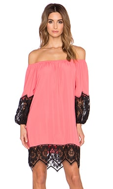 VAVA by Joy Han Regina Off the Shoulder Dress in Coral