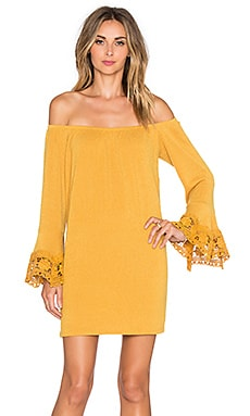 VAVA by Joy Han Joanne Off Shoulder Dress in Mustard