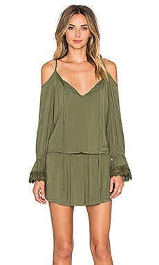 VAVA by Joy Han Silvia Open Shoulder Dress in Olive Garden