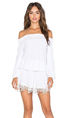 Shanta Off Shoulder Dress in White