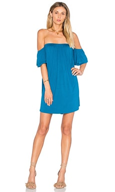 Sophia Off Shoulder Dress in Cobalt Blue