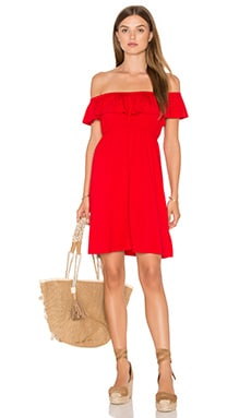 Paloma Open Shoulder Dress in Red