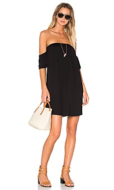 Sophia Off Shoulder Dress en Noir