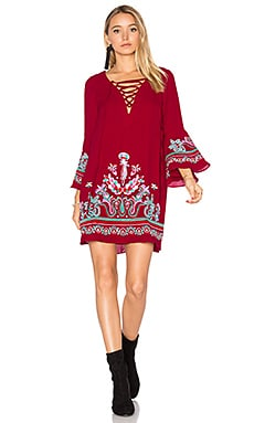Kalonice Dress in Burgundy