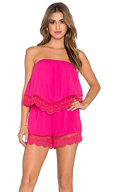 VAVA by Joy Han Ellen Romper in Fuschia