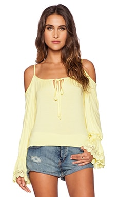VAVA by Joy Han Halle Open Shoulder Top in Yellow