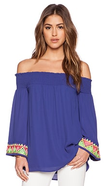 VAVA by Joy Han Lynette Off Shoulder Top in Blue