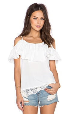 VAVA by Joy Han Chantily Top in White