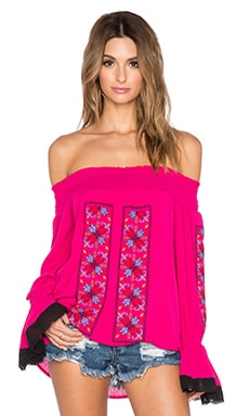 VAVA by Joy Han Magnolia Off the Shoulder Top in Fuschia