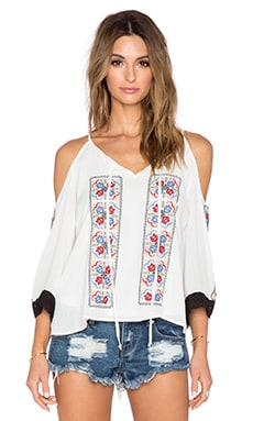 VAVA by Joy Han Magnolia Off the Shoulder Top in White