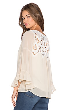 VAVA by Joy Han Estelle Bell Sleeve Top in Ivory