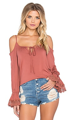 VAVA by Joy Han Silvia Open Shoulder Top in Copper