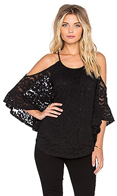 VAVA by Joy Han Suri Open Shoulder Top in Black