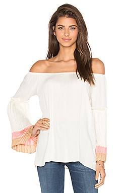 Grace Off Shoulder Top en Blanc