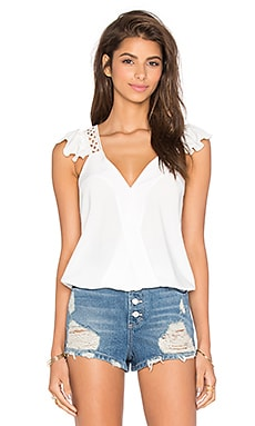 Samira Ruffle Top in White