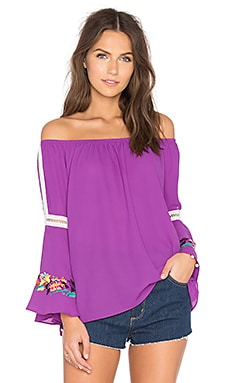 Ulla Off Shoulder Top in Magenta