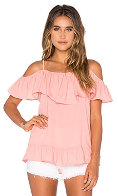 Nala Ruffle Top in Coral