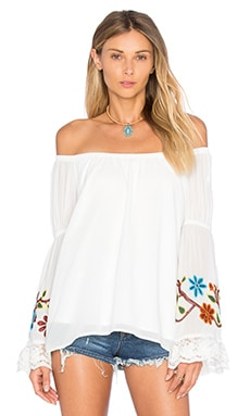 Meruvina Off Shoulder Top in White
